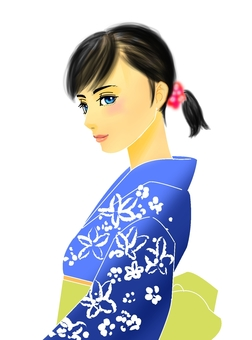 Yukata beautiful woman