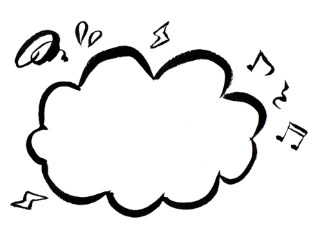 [Frame] pop handwritten balloon