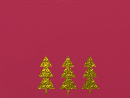 Background material tree red gold