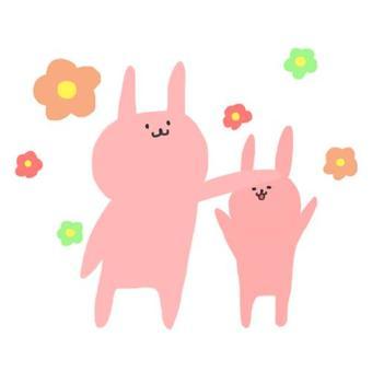 토끼와 꽃