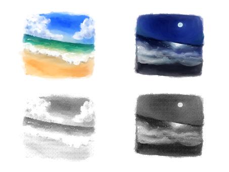 낮과 밤 바다