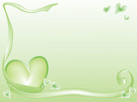 Heart Frame 1 Green Background color only