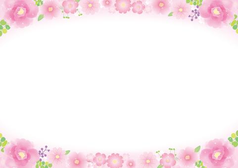 やさしいお花のフレーム