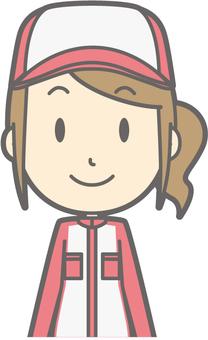 Mechanic woman - front - bust