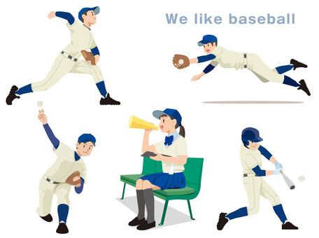 High School Baseball Illustration