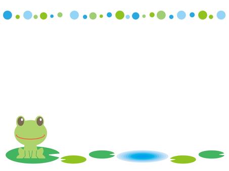 Frog and leaf frame B