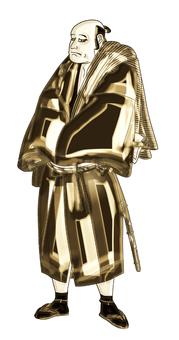 Nisei Arashi Ryuzo's gold version of Teraoka Hiemon