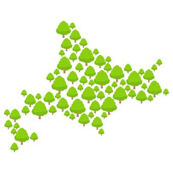 Hokkaido map with green 2 Map