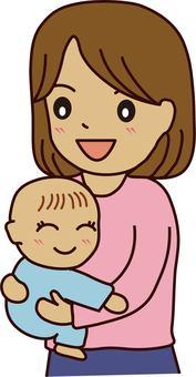 Hug the baby
