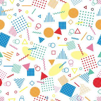 メンフィススタイル風の壁紙(カラー)