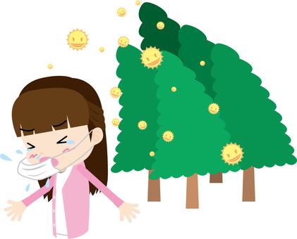 Pollen · Sneezing (female)