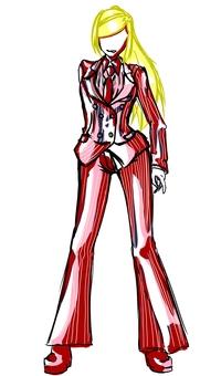 Double suit, women's