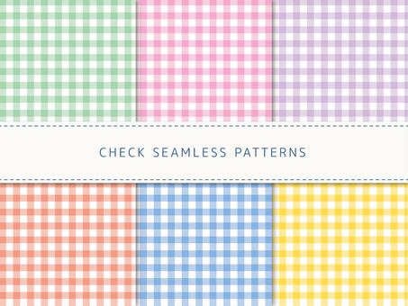 Gingham check pattern set