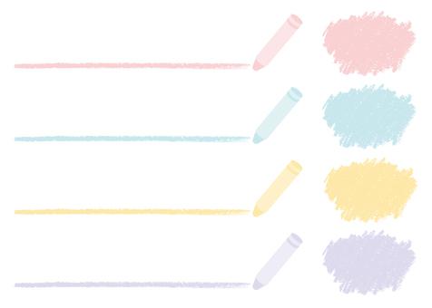 Handwritten line pastel