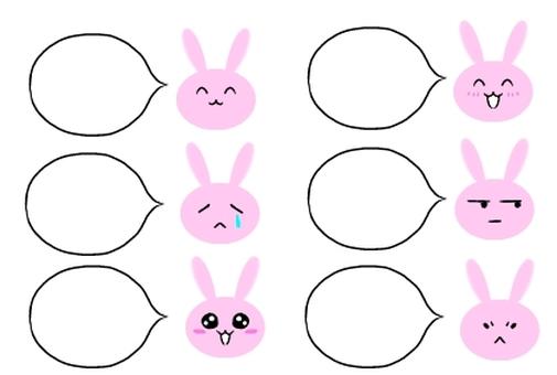 Speech bubble talking rabbit