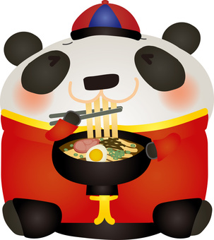 Chinese panda ramen delicious