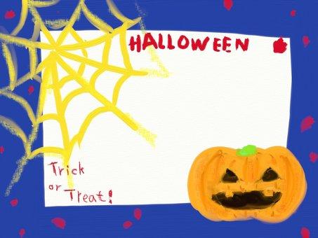 Halloween haunted pumpkin frame