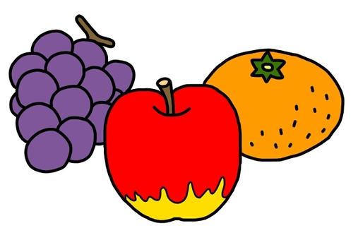 蘋果,橘子和葡萄