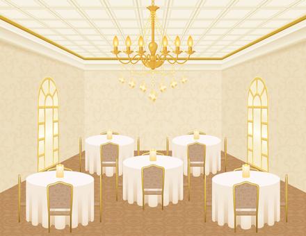 Hotel hall of dinner