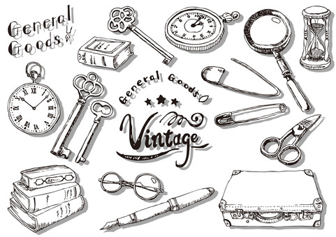 Vintage style material