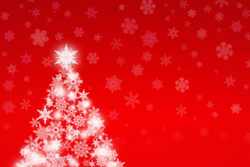 Snowy sparkling Christmas tree
