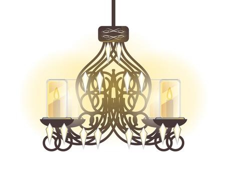 Antique furniture chandelier