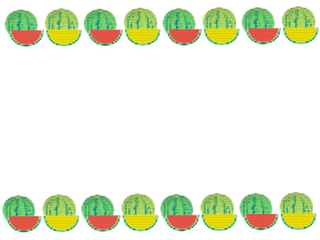 Watermelon embroidery style frame 3
