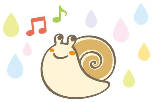 Snail and rain