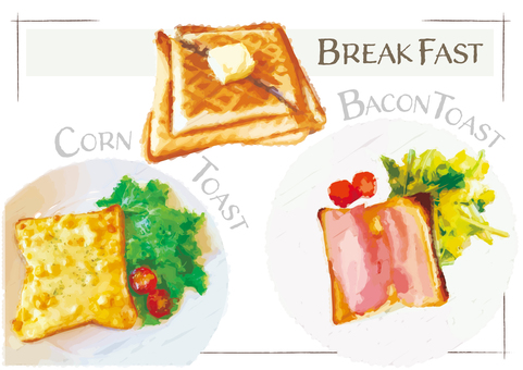 Breakfast Toast Cafe Rice snack