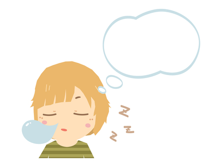Dreaming sleeping woman
