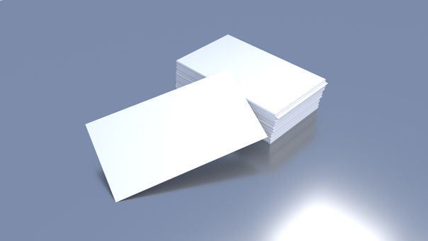 Bunch of business cards (blank paper)