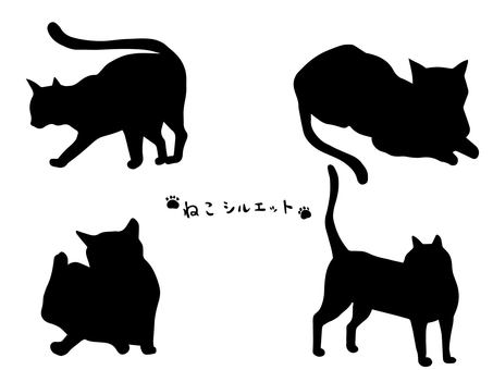 貓的剪影圖(2)