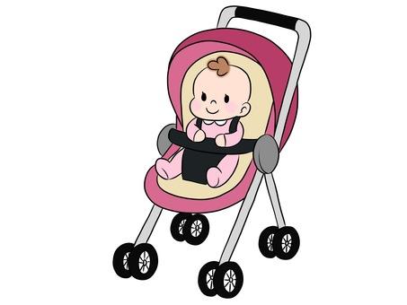 Baby stroller girl