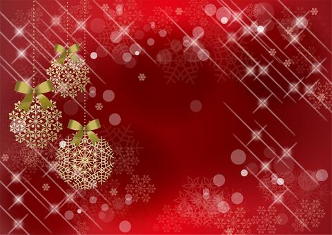 クリスマス&雪RED20