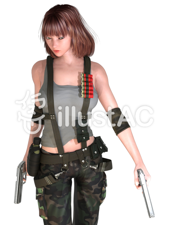 少女部隊のイラスト