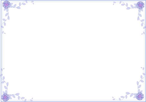 Gerbera frame blue