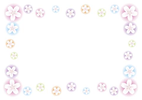 Fluffy cherry frame