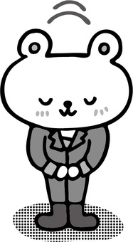 Mr. Shirokuma in work placement workplace
