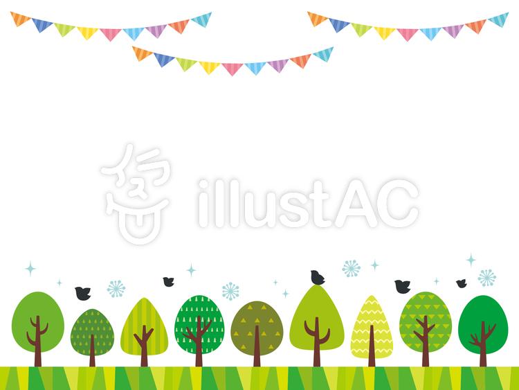 春の森フレームイラスト No 367151無料イラストならイラストac