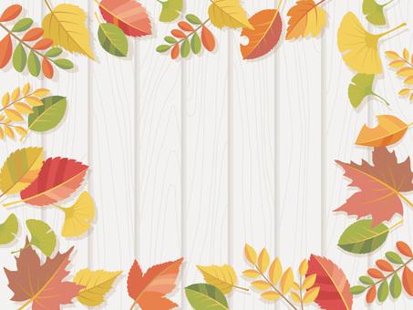 Fall leaves on board