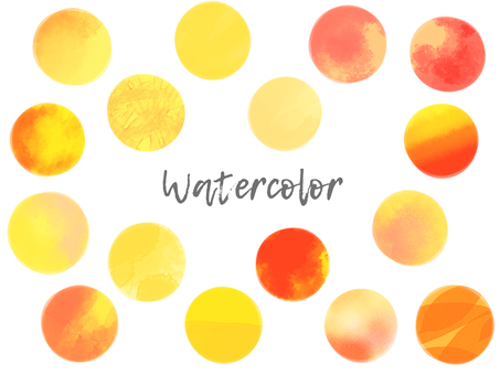 Watercolor material set 04 / yellow