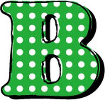Dotted alphabet B
