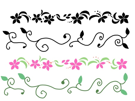 Flower and leaf lines