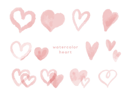 Pink watercolor heart