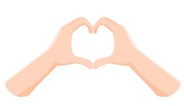 Heart shape made by hand