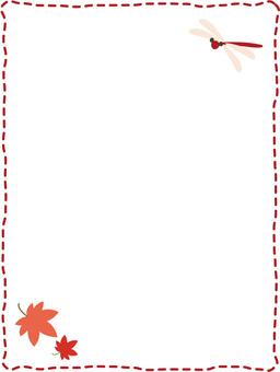 紅色tonbo tomiji簡單的框架
