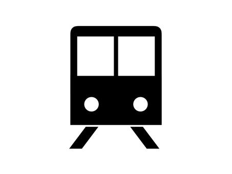 기차 아이콘 실루엣 블랙