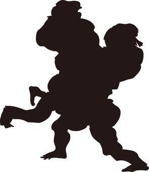 Ukiyo-e character silhouette part 82