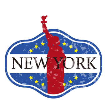 New York travel labels