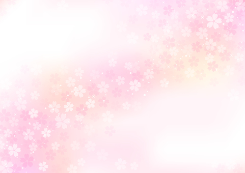 桜の流れる背景